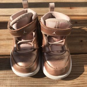 Pink Nike Air Jordan's Toddler 7
